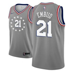 Youth Philadelphia 76ers Joel Embiid Jersey Gray